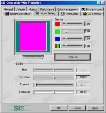 Sis graphics display driver